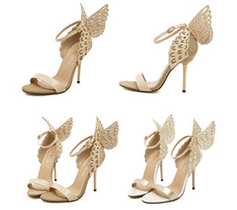 Wholesale Women Sandals High Heels Women Pumps Colorful Butterfly Heeled Shoes Sexy Wedding Shoes Bridal Shoes