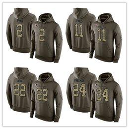 Wholesale Fashion Men s Falcons Devonta Freeman Julio Jones Matt Ryan Pullover Hoodie Olive Green America Football Sweatshirts