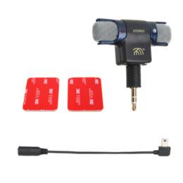 Micrófono estéreo externo del micrófono con 3.5mm al mini cable micro del adaptador del USB para GoPro Hero 3 3+ más 4 AEE cámara que se divierte Mic gopro usb deals desde usb gopro proveedores