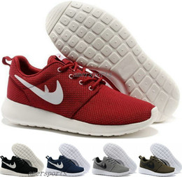 Wholesale 2016 Roshe Run Shoes Red Fashion Men Women Sports Running London Olympic Roshes Runs Shoes Walking Sporting Shoe Sneakers Free Ship