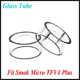 Wholesale Authentic Pyrex Glass Smok Micro TFV4 Plus Clear Glass Tube Replacement Glass Tube Bell Caps for Smok Micro TFV4 Plus Atomizer tank