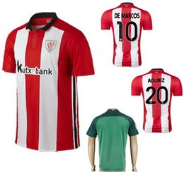 Wholesale 2016 Athletic Bilbao Soccer Jerseys Uniforms Thai Quality MUNIAIN ADURIZ KIKE SOLA ITTURASPE DE MARCOS Football Shirt