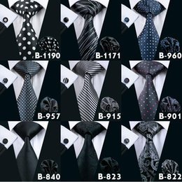 Mans Black Formal Ties Bussiness Neck Tie Set Fashion High Quality Silk Ties For Men Brand Tie Necktie