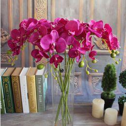 Wholesale Colors Autumn cm Phalaenopsis Butterfly Moth Orchid Artificial Flowers Wedding Home Decoration Flower Bouquet