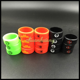 Vape Band Silicone Rings with The Punisher Spiderman Logo Colorful Rubber Rings fit RDTA RDA RTA Atomizer Mods DIY