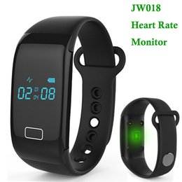 JW018 Smart Wristbands Heart Rate Touch Bracelet Bluetooth Passometer Sports Fitness Tracker for IOS Andriod Phone Wristband