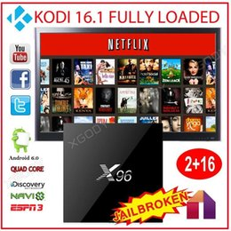 Wholesale 2g g Android TV Box X96 Marshmallow S905X Quad Core Fully Loaded Google Play Store XBMC KODI16 Smart K TV Box Beat Openbox V8s