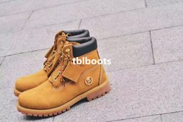 Wholesale 2016 New Arrival Mastermind Japan x Wheat Yellow Boots Women Mens for Best quality Leather Fashion Outdoor Casual Snow Boot Size