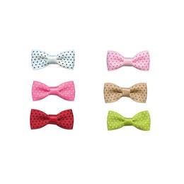 Mini Dot Satin ribbon bow tie,Gift packsg,underwear DIY accessories 100pcs