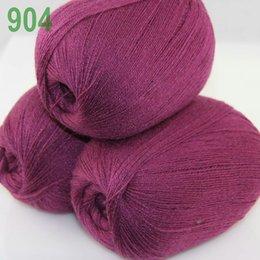 Wholesale balls LACE Soft Acrylic Wool Cashmere hand Knitting Yarn Bramble berry