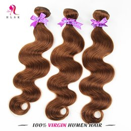 Brazilian Human hair Bundles Body Weave Color Brown Wholesale Hair Extensions Body Weave Brown Human Braiding Remy Hair Fast Shipping