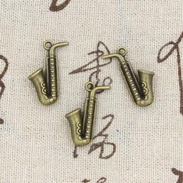 Wholesale 60pcs Charms horn mm Antique Making pendant fit Vintage Tibetan Bronze DIY bracelet necklace