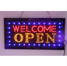 Wholesale 20PCS price x10 x0 LED OPEN Animated LED advertising welcome open business sign high quality