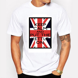 Newest 2016 Summer Men's Fashion Tshirts Printing British Flag Slogan Cotton Short Sleeve O-neck Tops Tees Summer Swag T-shirt