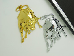 Wholesale 2016 Hot Sale New D Gold Chrome Metal Bull Ox Emblem Car Truck Motor Sticker Auto Decal Personalized Car Stickers Colors Car styling