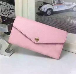 NEW brand MARIE-LOU Fashion women's Wallet Genuine Leather Purse No Zipper Cowhide long Wallets