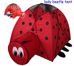 Wholesale Beetle games houses children toy baby baby playing the game children tent lady beetle tent outdoor baby toy tent