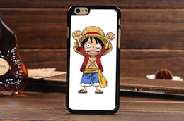 Wholesale Durable Phone case Luffy Famous Anime One Piece Shell Cute Carton Hard Plastic Cover Case For iPhone S inch MOQ