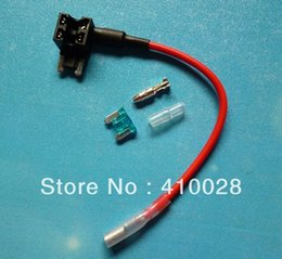 Wholesale Accessories Cables Adapters Sockets new micro Mini Blade Fuse Tap Holder Add A Circuit Line ATM APM Car Truck Motorcycle Motorbike