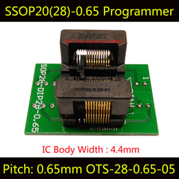 Wholesale SSOP20 TSSOP20 OTS Programming Socket IC Test Socket Programmer Adapter Bounce Socket Convertor Conector High Quality