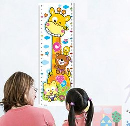 Wholesale wall stickers home decor Kids Height Chart Wall Sticker home Decor Cartoon Giraffe Height Ruler Home Decoration room Decals Wall Art Sticker