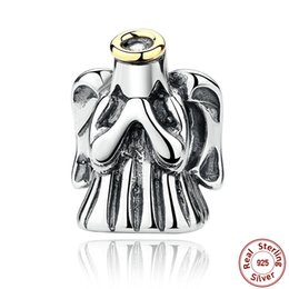 Authentic 925 Sterling Silver Charms Divine Angel fit Pandora Style Beaded Charm Bracelets S311