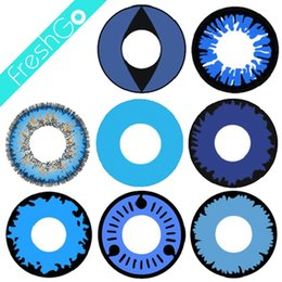 Wholesale Blue Halloween Contact Lenses Twilight Crazy Contacts Large Stock