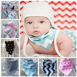 baby bibs new handmade baby waterproof triangular bandage Pure cotton double triangular bandage Buckle baby drool towel bibs