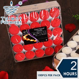 Wholesale 2 Hours Set of Tea Light Candles Smokeless And OdourlessTealight Birthday Valentine s day Weddings Product Code