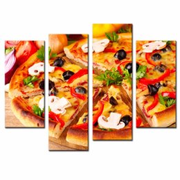Wholesale LK499 Panle Pictures of Food Black Olive Pizza Paintings The Picture For Home Resturant Kitchen Decoration City Pictures Photo Prints On