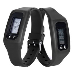 Wholesale Fashion Sports style Digital LCD Pedometer Run Step Walking Distance Calorie Counter Watch Bracelet