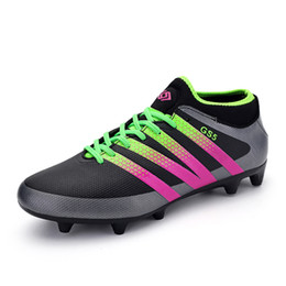 Wholesale Football Boots HG AG Nylon Soles Soccer Shoes Women Botas De Futbol Con Tobillera Cleats Superfly Chuteira Futsal Jogging For Men