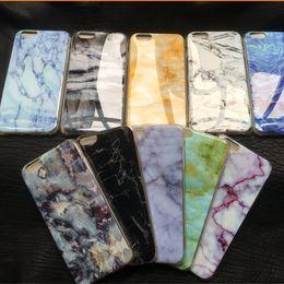 Wholesale iphone Retro Marble Patten case granite Stripe Rock stone design image Painted cases TPU cover for iphone plus s c s SE S PLUS