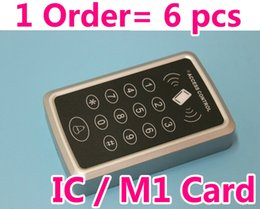 IC Card 1 order= 6 pcs Supporting M1card,password,pin code to open door RFID Proximity Door Access RFID EM Keypad Access Control