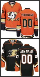 Canada Custom Anaheim Ducks Jerseys Noir Orange 2016 Stadium Series Jerseys Stitched Mighty Ducks De Anaheim Hockey Jerseys taille S-3XL duck custom on sale Offre