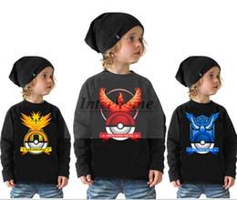 Wholesale Kids Poke T Shirts Boys Pikachu Shirts Poke Go Tees Jeni Turtle Charmander Squirtle Tanks Summer Print Tops Long Sleeve T Shirts B516