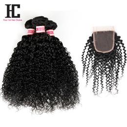 7A Brazilian Virgin Hair With Closure Top Brazilian Kinky Curly Virgin Hair With Closure 2016 Fashion Moda Hair 3 Bundle Deals With Closure