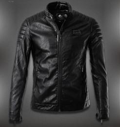 Wholesale men s pu leather jacket Germany brand skull design slim motorcycle men leather jackets Jaqueta de couro moda casual homens