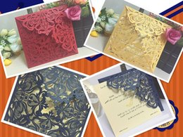 Wholesale American wedding invitations invitation business card Wedding invitation card Blue star laser hollow out invitation card with European style