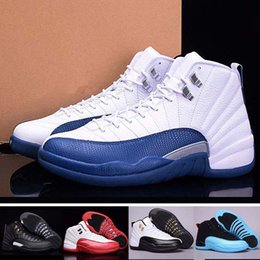 Wholesale Hot Sale New Arrival Retro Flu Game Women Men Basketball Shoes Cheap French Blue Sneakers Sport Shoes Best Quality Size US5