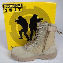 Botas Delta Tactical Desierto Militar SWAT Botas de Combate Americano Zapatos al aire libre Botas transpirables Wearable Senderismo EUR tamaño 39-45 Alta Calidad desde bota militar fabricantes