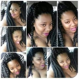 2017 le tressage des cheveux 12 pouces Vente en gros 12 Inch Havana Mambo Twist Hair Havana Braiding Twist Hair Synthétique 80g / pack Synthétique Crochet Braiding Hair Extension abordable le tressage des cheveux 12 pouces