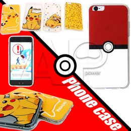 Wholesale 2016 Poke Ball Go Transparent Soft TPU Printed Pattren Clear Crystal Case Cover Cartoon For iphone plus s S MOQ Per Models