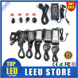 Wholesale DHL ship LED power supply V AC DC V A A A A A A A A A switching Led Strip light transformer adapter lighting