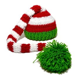Wholesale Retail Unisex Children Beanies Long Tail Knit Christmas Hats Baby Kids Boys Girls Winter Warm Cap Skullcap MZ1133