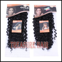 Wholesale 6PACKS Noble Gold Dancing Curl Color1 Black inch Synthetic Hair Extension Curly Hair Weave