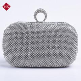 Wholesale Fashion Cheap Swarovski Crystals Bridal Clutches Wedding Evening Prom Party Hand Bag Hote Sale Elegant Luxury Purse Clutch Evening bags