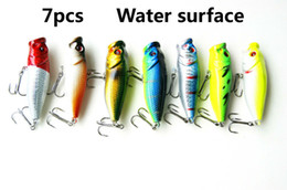 fishing lure 7pcs The surface wave steak mino road and false bait fishing bait Bionic bait 60 mm   9 g