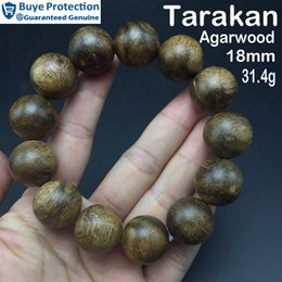 Wholesale 18mm g high quality Authentic Tarakan Aloeswood luxury bead bracelet most worth investment collection ecoration Christmas present