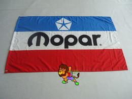 VINTAGE MOPAR RED WHITE BLUE Flag 3x5 FT Banner 100D Polyester Brass Grommets
